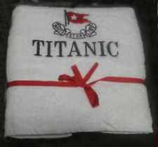 NEW TITANIC FIRST CLASS PASSENGER COURTESY HAND TOWEL EXCELLENT SOUVENIR CP MADE