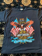 New listing Vtg 1989 Harley Davidson Born In The Usa - For People By People - T Shirt Xl