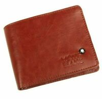 NEW MONT BLANC WALLET MEN'S LEATHER FAST SELL LIMITED STOCK FREE SHIPPING