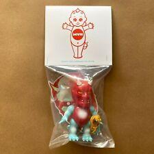 Mutant Vinyl Hardcore Kewpie Lash Red Painted Sofubi Designer Art Toy Kaiju Mvh