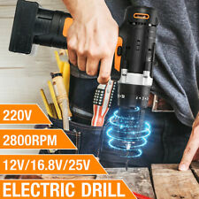 12/16.8/25V Electric Screwdriver Drill Bits Impact Wrench Tool Rechargeable