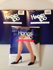 Lot of 3 Hanes too Plus collection Pantyhose Control Top Reinforced toe Size 1Q