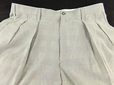 Brooks Brothers Golf Pants 36 Unfinished Gray Pleated