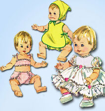 1960s Vintage Simplicity Sewing Pattern 6817 Ginny Baby 18 Inch Doll Clothes