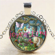Pokemon Pokeball Cabochon Tibetan silver Glass Chain Pendant Necklace #2933