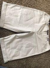 Gloria Vanderbilt Ashley 24W Beige Bling Stretch Mid Skimmer Capri Jeans