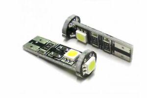 Coppia lampade lampadine canbus luce freda 3 led smd auto attacco T10 12V
