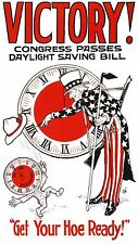 Daylight Saving Time # 10 - 8 x 10 T-shirt iron-on transfer Get Your Hoe Ready