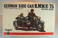 Bandai 1/48 Bausatz Kit Nr. 8227 3 Stück German Side-Car B.M.W. R/75 OVP #2607