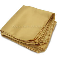 10Pcs Gold Square Cloth Napkins for Holiday Party Banquet Wedding Hotels VSV