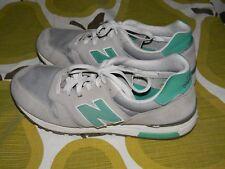 NEW BALANCE 565 running shoes men's 10 women's 11.5 gray teal nylon leather