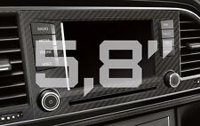 Seat Leon 5F Carbon Blende für 5,8'' Navi + Lüftung CFK Carbon Fiber