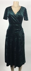Lauren Ralph Lauren Dark Fern Green Crushed Velvet Dress Size 2 NEW $165