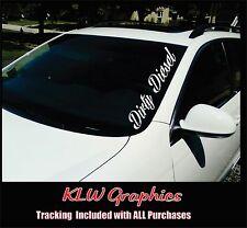 Dirty Diesel banner vinyl Decal Sticker Powerstroke Truck 2500 Crew Cab