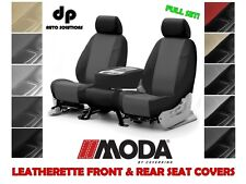 COVERKING LEATHERETTE CUSTOM FIT SEAT COVERS FULL SET for HONDA CIVIC
