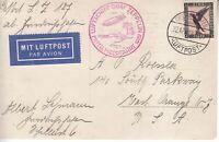 Card Zeppelin 1929 Airship Germany USA LZ 127 Mittelmeerfahrt Mi 382 Nice