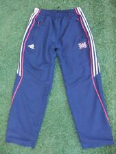 "ADIDAS GB GREAT BRITAIN ATHLETIC TEAM ATHLETE ISSUE JOGGING PANTS FIT 26"" ~ 32"""