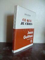 J.Guitton De L'Academy Francaise This That I Cross/Grasset A Paris 1971