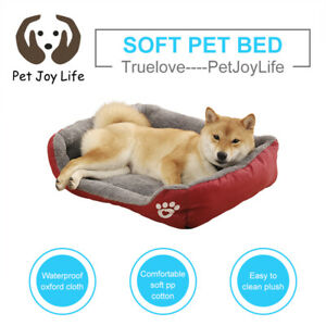 Pet Dog Cat Bed With Soft Plush Fleece Material Nest Style Comfy Sleepin Cushion