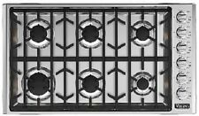 Viking 5 Series 36in Gas Cooktop with 6 Sealed Burners VGSU53616BSS