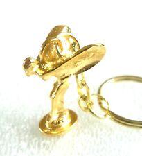 ROLLS ROYCE FLYING LADY MASCOT KEYRING / KEYCHAIN  GOLD PLATED SPIRIT OF ECSTASY
