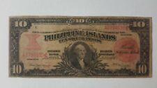 1912 Us- Philippine 10 Silver Certificate Very Rare