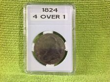 1824 - 4 OVER 1 - CAPPED BUST HALF DOLLAR IN BCW SLAB TYPE HOLDER
