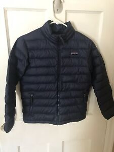 Kids Patagonia Black Down Sweater Puffer Jacket Coat Boys Size 10 M