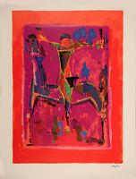 Marino MARINI  1979  Orizzonte litografia originale  firmata