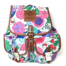 NWT OILILY Floral Turquoise Backpack