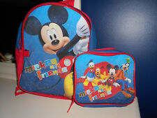 Disney Mickey Mouse and Friends School Bag Backpack Lunch Box Set Book Bag