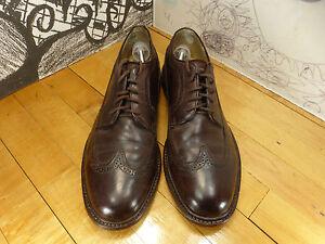 Frye Brown Leather Long Wing Wingtip Oxfords Men's 11M #84625 Vintage