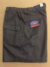 Big & Tall Mens Relaxed Fit Cotton Cargo Shorts - Smokey Forest Green - Waist 50