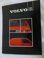 Volvo 345 Van 4 page depliant / Prospekt / brochure / catalog ** VERY RARE **