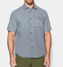 $75 UNDER ARMOUR Mens M Backwater Fishing Short Sleeve Button Shirt 1290762-035