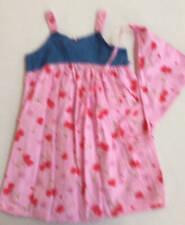 ZOEY Girls Size 7 Dress and Bandana Denim Pink Summer Strappy