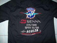 NEU MV AGUSTA Senna Fan - Hemd schwarz shirt blouse camisa chemise skjorta
