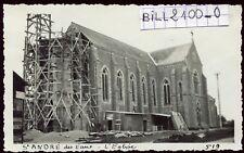 St-André des Eaux .restauration de l'église  . Photo ancienne . 1936