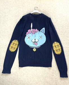 RARE Men's DROP DEAD Sweater Cardigan Pullover Top V-Neck Jacket Coat SZ M - L