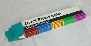 12 Vtg Berol Prismacolor Colored ART Pencils In Box Aquamarine UNUSED