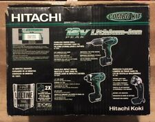 Hitachi 3-Tool KC10DFL12-Volt Peak Li-Ion Combo Kit