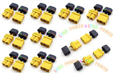 10Pairs Amass XT60 H Male/Female Sheath Housing Plug For ESC Lipo Battery Copter