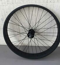 "Fat Cruiser 26"" Rear Wheels Rims with 36 spokes for 7 speed w disc brake Black"