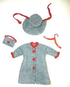 Vintage Outfit For Barbie Skipper Toots Cricket Stunning Coat Bonnet bag No Doll
