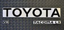 REFLECTIVE TOYOTA TACOMA BLACK TRUCK TAILGATE LOGOS DECAL 95-99 V6  pickup