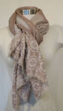 Unbranded Soft Pink Cotton Gauze Patterned Scarf