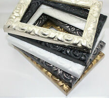 Ornate Antique Cushion Style Photo Photograph Picture Frame Gold, Silver , Black