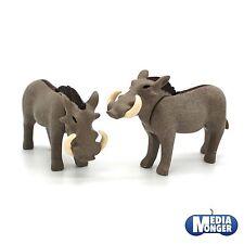 playmobil Safari Afrique Oambati Zoo: 1 x Phacochère Cochon Couple