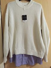 BNWT TOP SHOP Boutique 2 in 1 jumper with under shirt effect removable.size 12