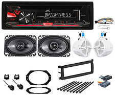 97-02 Jeep Wrangler JVC CD Player/Stereo/Radio+Front+Rollbar/Soundbar Speakers